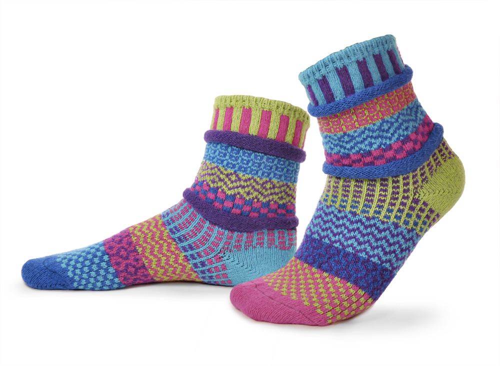 Solmate Bluebell Recycled Cotton Mismatched Socks