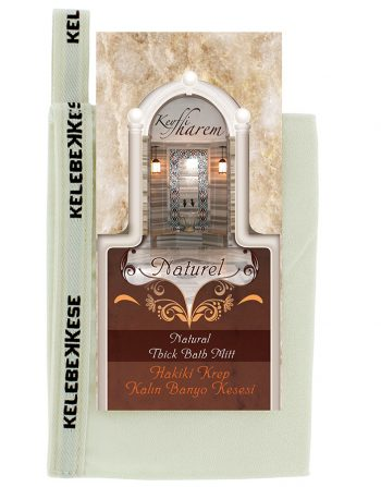 Exfoliating glove 100% Natural Turkish thick mitt / kese / kesse Cream