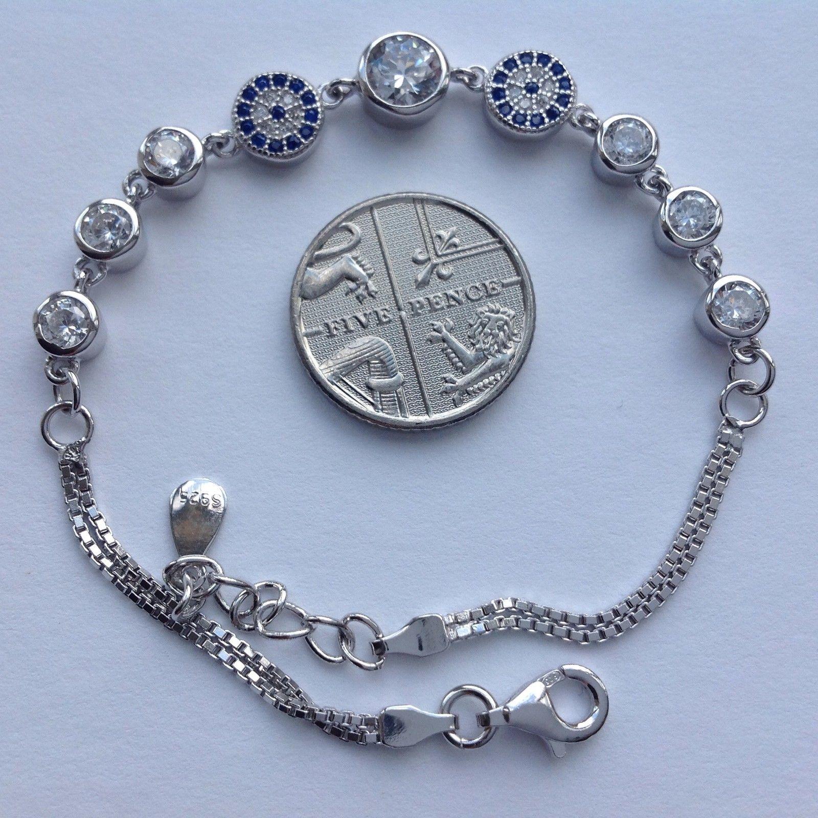 Turkish Evil Eye Nazar 925 Sterling Silver Cubic Zirconia