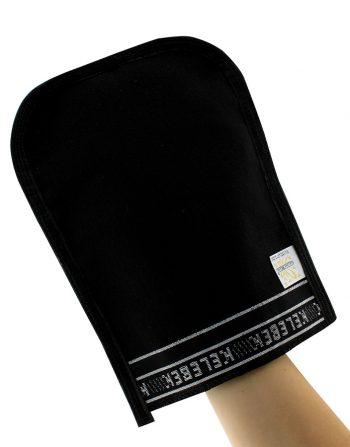 Standard exfoliating glove black