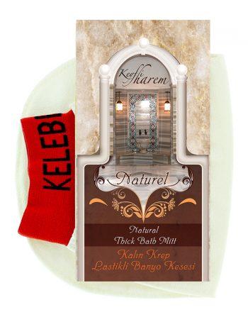 keyfi harem elasticated thick krep white kese exfoliating glove